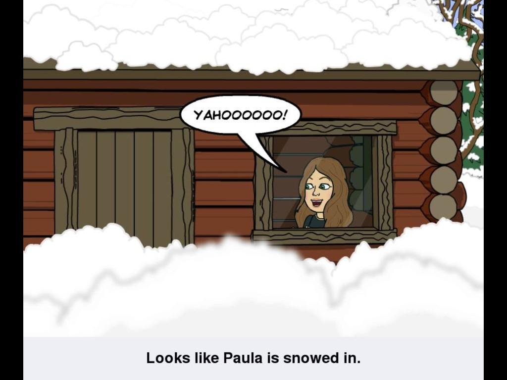 Snowed in Paula cartoon