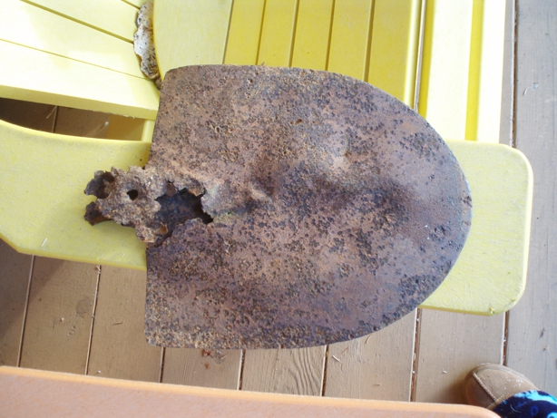 Shovel head circa 1850 found at Hyde Creek